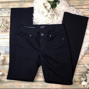 LOFT Dark Navy Curvy Sexy Boot Cut Jeans 27/4